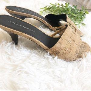 Donald J. Pliner Shoes - Donald J Pliner Cork Kitten Heels 7